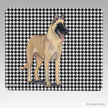 Belgian Malinois Houndstooth Mouse Pad
