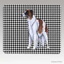 Borzoi Houndstooth Mouse Pad