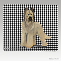 Briard Houndstooth Mouse Pad