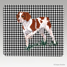 Brittany Houndstooth Mouse Pad