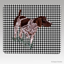 German Shorthair Pointer Houndstooth Mouse Pad
