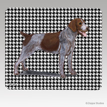 German Wirehaired Pointer Houndstooth Mouse Pad