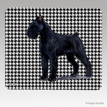 Giant Schnauzer Houndstooth Mouse Pad