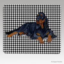Gordon Setter Houndstooth Mouse Pad