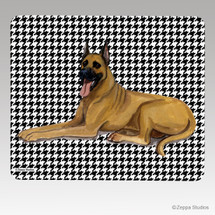 Great Dane Houndstooth Mouse Pad