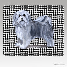 Havanese Houndstooth Mouse Pad