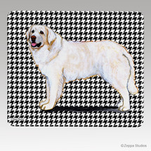 Kuvasz Houndstooth Mouse Pad