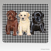 Lab Puppies Houndstooth Mouse Pad
