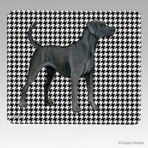 Lacy Dog Houndstooth Mouse Pad
