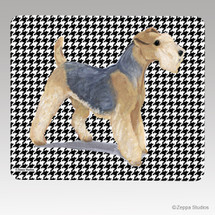 Lakeland Terrier Houndstooth Mouse Pad