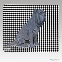Neopolitan Mastiff Houndstooth Mouse Pad