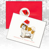 Tan & White Shih Tzu Puppy Clip Christmas Cards