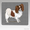 Red and White Papillon Houndstooth Mouse Pad