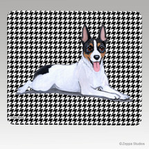 Rat Terrier Houndstooth Mouse Pad - Rectangle