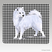 Samoyed Houndstooth Mouse Pad - Rectangle