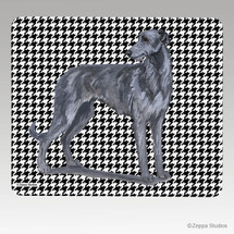 Scottish Deerhound Houndstooth Mouse Pad - Rectangle