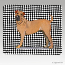 Sharpei Houndstooth Mouse Pad - Rectangle