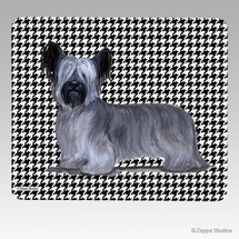 Skye Terrier Houndstooth Mouse Pad - Rectangle