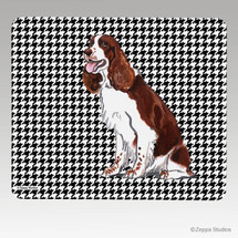Liver & White Springer Houndstooth Mouse Pads