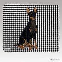 Toy Manchester Terrier on Houndstooth Mouse Pad