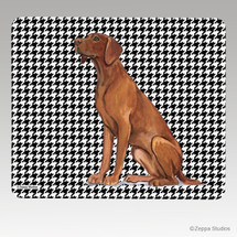 Vizsla Houndstooth Mouse Pad - Rectangle