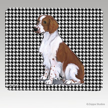 Welsh Springer Houndstooth Mouse Pad