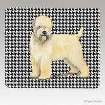 Wheaten Terrier Houndstooth Mouse Pads