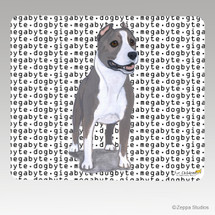 American Staffordshire Terrier Megabyte Mouse Pad