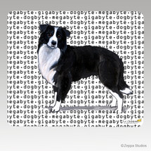 Border Collie Megabyte Mouse Pad