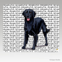 Flat Coated Retriever Megabyte Mouse Pad