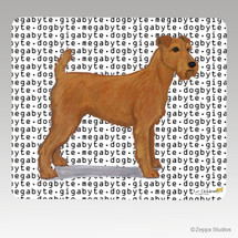 Irish Terrier Megabyte Mouse Pad