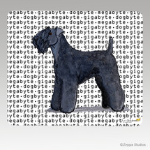 Kerry Blue Terrier Megabyte Mouse Pad