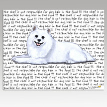 American Eskimo Dog Message Cutting Board - Rectangular