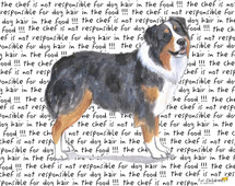 Australian Shepherd Message Cutting Board - Rectangular