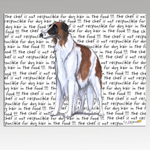 Borzoi Message Cutting Board - Rectangular