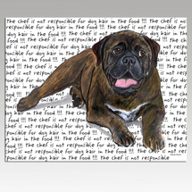 Bull Mastiff Message Cutting Board - Rectangular