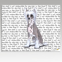 Chinese Crested Message Cutting Board - Rectangular