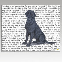 Curly Coated Retriever Message Cutting Board - Rectangular