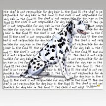 Dalmatian Message Cutting Board - Rectangular