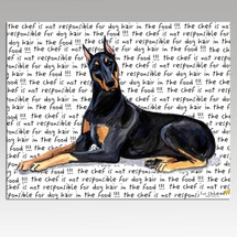 Doberman Pinscher Message Cutting Board - Rectangular