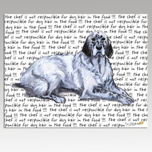 English Setter Message Cutting Board - Rectangular