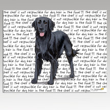 Flat Coated Retriever Message Cutting Board - Rectangular