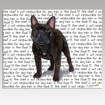 French Bulldog Message Cutting Board - Rectangular