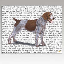 German Wirehaired Pointer Message Cutting Board - Rectangular