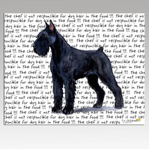 Giant Schnauzer Message Cutting Board - Rectangular