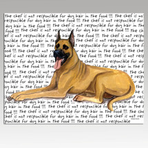 Great Dane Message Cutting Board - Rectangular
