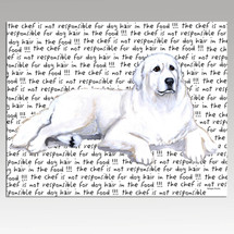 Great Pyrenees Message Cutting Board - Rectangular