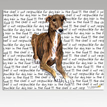 Greyhound Message Cutting Board - Rectangular