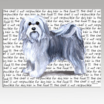 Havanese Message Cutting Board - Rectangular