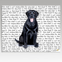 Labrador Retriever, Black Message Cutting Board - Rectangular